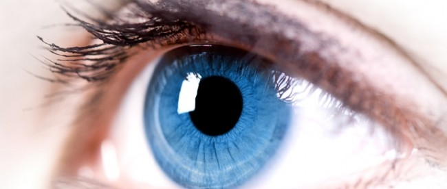 eyes and contact lenses